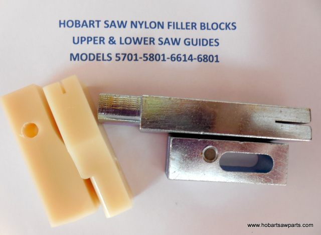 Upper & Lower Saw Guides for Hobart 5701, 5801, 6614 & 6801 Meat Saws