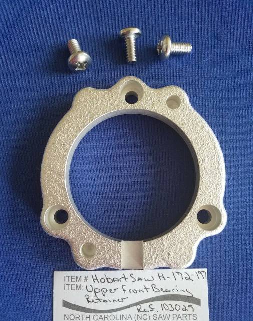 Front Bearing Retainer for Hobart 5216 Meat Saws. Replaces #103029