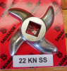 "#22 EUROPEAN STYLE GRINDER KNIFE STAINLESS STEEL 2.90"" TIP TO TIP"